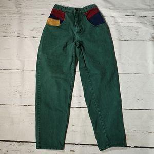 Vintage 90s Jordache Color Block Tapered Jeans